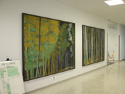 花山智久氏作の日本画「彷徨う風」、「竹林」